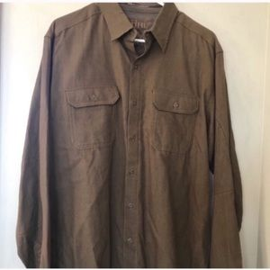 Kuhl Mens Large tan/brown button up. New w/o tags